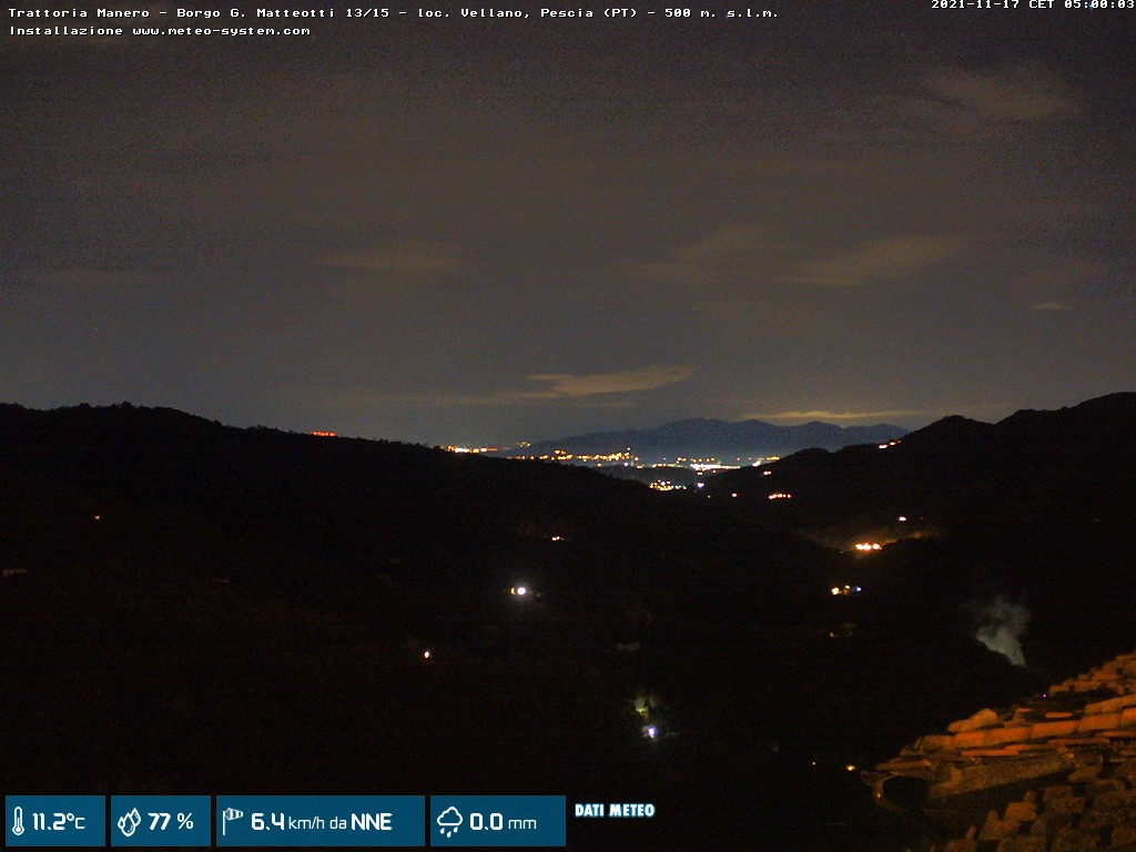 webcam Trattoria Manero - Vellano (PT)